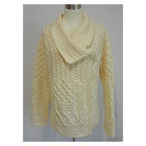 ARAN MOR Patchwork Cardigan Sweater Wool Ireland